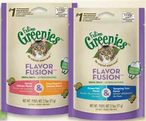Greenies Feline 10 X 2.5 oz - Ocean Fish & Tuna Cs10 By Nutro Company