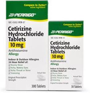 Cetirizine 10mg Tablets B300 By Perrigo Pharmaceuticals