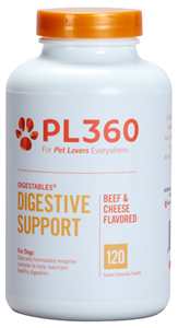 Digestables For Dogs (Beef & Cheese Flavored Chew Tabs) B120 By Pl360