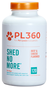 Shed No More For Dogs (Beef & Cheese Flavored Chew Tabs) B120 By Pl360