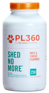 Shed No More For Dogs (Beef & Cheese Flavored Chew Tabs) B250 By Pl360