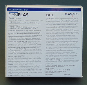 Caniplas (Fr oz en Canine Plasma) To Order: Add A Note To The Message Board Or