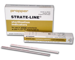Strate-Line Sterilization Monitor Strips For Steam 8 X0.5625 B250 By Propper