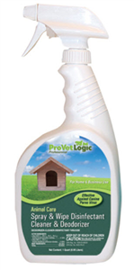 Spray & Wipe 32 oz Disinfectant - For Cages And Carriers C12 By Provetlogic