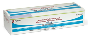 Amoxicillin Trihydrate And Clavulanate Potassium Tabs 250mg B210 By Putney