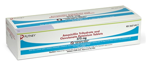 Amoxicillin Trihydrate And Clavulanate Potassium Tabs 375mg B210 By Putney