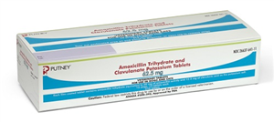Amoxicillin Trihydrate And Clavulanate Potassium Tabs 62.5mg B210 By Putney
