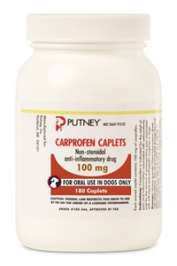 Carprofen Caplets 100mg B180 By Putney