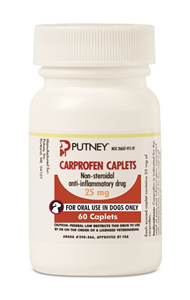 Carprofen Caplets 25mg B60 By Putney