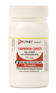 Carprofen Caplets 75mg B60 By Putney