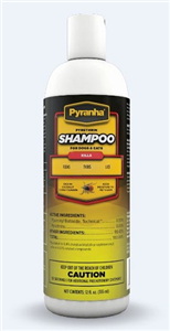Pyranha Pyrethrin Shampoo Dog/Cat 12 oz By Pyranha