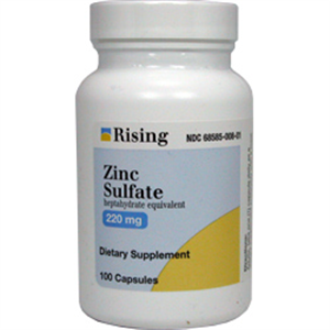 Zinc Sulfate Caps 220mg B100 By Rising Pharmaceuticals