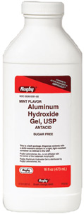 Aluminum Hydrox Gel 320mg - Mint Flavor 480ml By Rugby