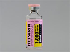 Heparin Inj 1000U 10ml 10cc By Sagent Pharmaceuticals