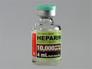 Heparin Sodium Inj 10000U/ml 4ml 4ml By Sagent Pharmaceuticals