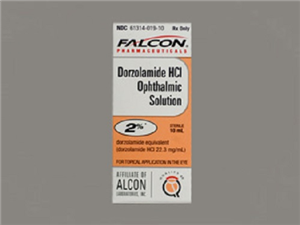 Dorzolamide Hcl 2% Ophthalmic Solution 10ml By Sand oz