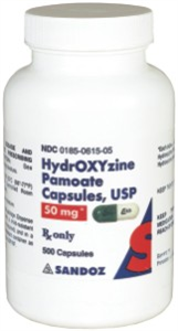 Hydroxyzine Pamoate Caps 50mg Non-Returnable B500 By Sand oz