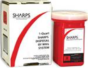 Sharps Mailback Collection And Disposal System - Usps (1) 1-Quart Each By Sharps