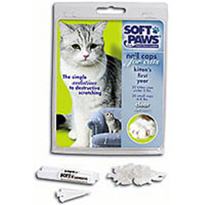 Soft Paws Feline Kit (Clear) - 40 Nail Caps / 2 Tubes Adhesive Medium [9-13#] Ki