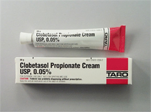 Clobetasol Propionate Cream USP 0.05% 30gm By Taro Pharmaceuticals
