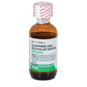 Cyclosporine Oral Solution 100Mg/ml 50ml By Teva Pharmaceuticals