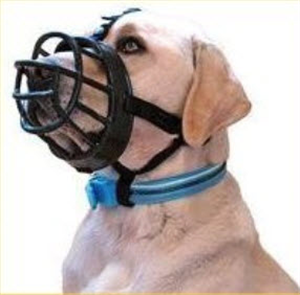 Muzzle Canine Baskerville - Lab/German Shepard - Size 5 (Large/XLarge) Each By T
