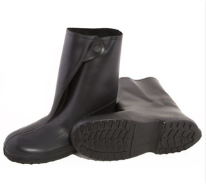 Boot Rubber Black Slip-Over 1400 10 Large Pair By Tingley Protective Clothing