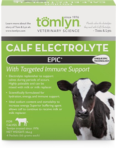 Epic Calf Electrolyte 4Pks By Tomlyn Veterinary Science