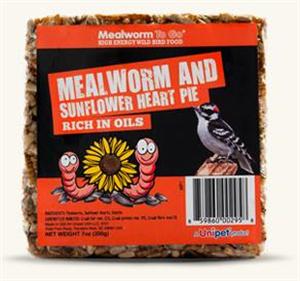 Mealworm Pie W/Sunflower 7 oz By Unipet USA