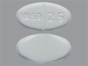 Enalapril Maleate Tabs 2.5mg - Scored Oval B1000 By Valeant Pharmaceuticals Inte