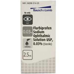 Flurbiprofen 0.03% Ophthalmic Solution 2.5cc By Valeant Pharmaceuticals Internat