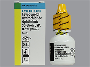 Levobunolol Hcl 0.5% Ophthalmic Solution 5ml By Valeant Pharmaceuticals Internat