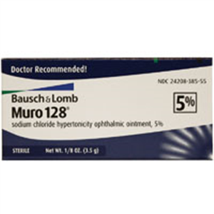 Muro 128 5% Ophthalmic Ointment 3.5gm By Valeant Pharmaceuticals International