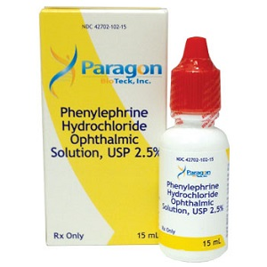 Phenylephrine 2.5% Ophthalmic Solution 15ml By Valeant Pharmaceuticals Internati