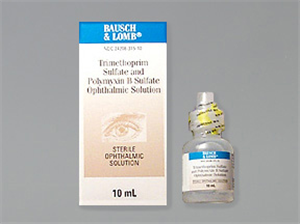 Polymyxin B Sulfate And Trimethoprim Ophthalmic Solution 10cc By Valeant Pharmac