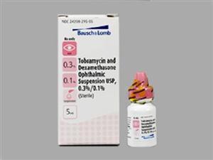 Tobramycin 0.3% W/ Dex 0.1% 5ml By Valeant Pharmaceuticals International