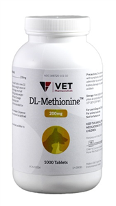 Dl Methionine 200mg B1000 By Vet Brand