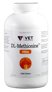 Dl Methionine 500mg B1000 By Vet Brand