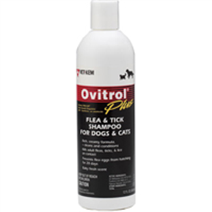 Ovitrol Plus Flea & Tick Shampoo For Dogs & Cats 12 oz By Vet Kem