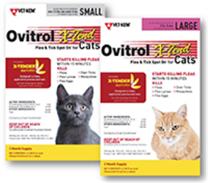 Ovitrol X-Tend Spot On For Large (5Lbs>) Cats P3 By Vet Kem