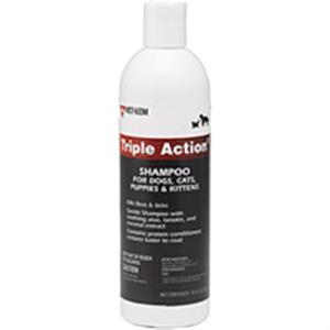 Triple Action Flea & Tick Shampoo 12 oz By Vet Kem