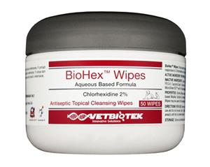 Biohex Wipes B50 By Vetbiotek