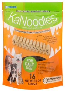 Kanoodles Dental Chews - Large Dogs 25-50Lbs (16 Chews Per Bag) 12 oz By Vets Pl