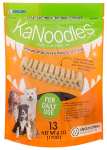 Kanoodles Dental Chews - Medium Dogs 15-25Lbs (13 Chews Per Bag) 6 oz By Vets Pl