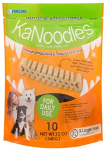 Kanoodles Dental Chews - XLarge Dogs 50+Lbs (10 Chews Per Bag) 12 oz By Vets Plu