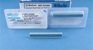 Weck Hemoclips - 10 Clip Cartridge Blue Titanium - Medium B200 By Weck