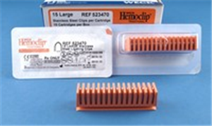 Weck Hemoclips - 10 Clip Cartridge Orange - Large B120 By Weck