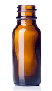 Bottle Glass Amber 0.5 oz Without Dropper (Dropper Sku 031838) Each By Western P