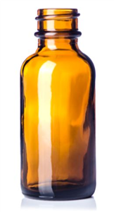 Bottle Glass Amber 1 oz Without Dropper & Top (Dropper Sku 031840) Each By Weste