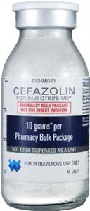 Cefazolin 10gm Multi Dose Vial 100cc By West-Ward Pharmaceutical Corp